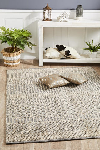 Demre Natural Grey Transitional Rug