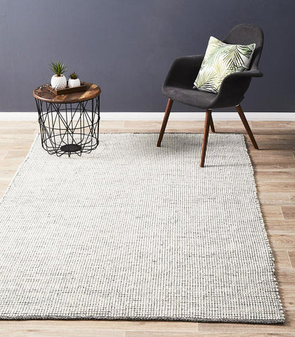 Attic Stunning Wool Black Rug - Lost Design Society