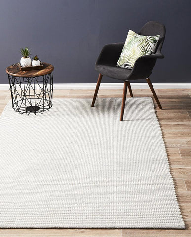 Attic Stunning Wool Grey Rug - Lost Design Society