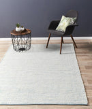 Attic Stunning Wool Turquoise Rug - Lost Design Society