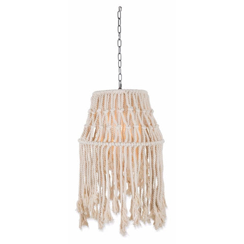 Cotton and Metal Rope Canopy Pendant Light Small - Lost Design Society