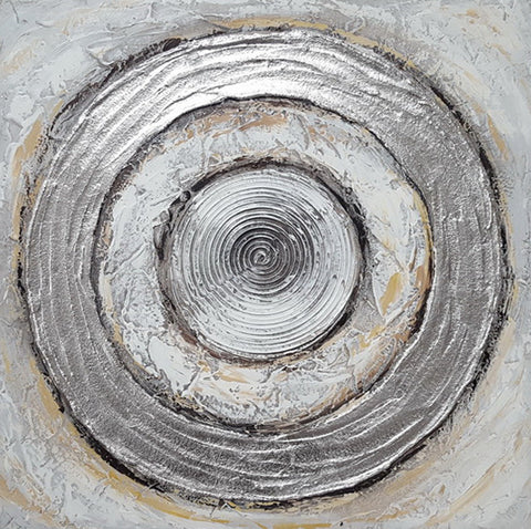 Silver Circle Hand Painting Picture 60*60cm