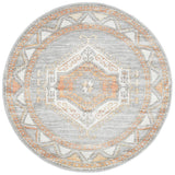 Lymbeth Grey Transitional Round Rug