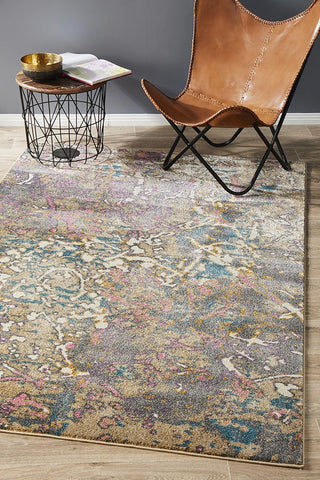 Jebediah Eclectic Transitional Art Silk Rug
