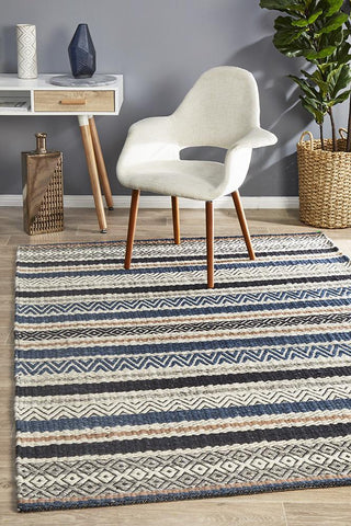 Miller Flatwoven Swing Denim Rug