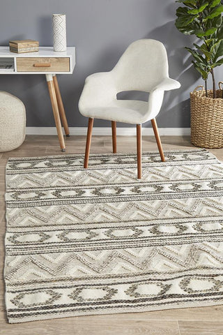 Miller Flatwoven Tap Stone Rug