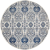 Sury Ivory Navy Heritage Round Transitional Rug