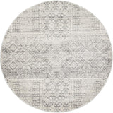 Zelda Silver Grey Round Transitional Rug