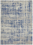 Ashley Abstract Modern Blue Grey Transitional Rug