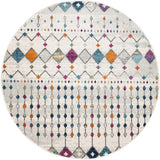 Peggy Tribal Morrocan Style Multi Round Transitional Rug