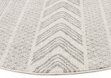 Adani  Modern Tribal Design Grey Round Rug - Lost Design Society