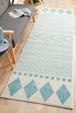 Adani  Modern Tribal Design sky Blue Rug - Lost Design Society