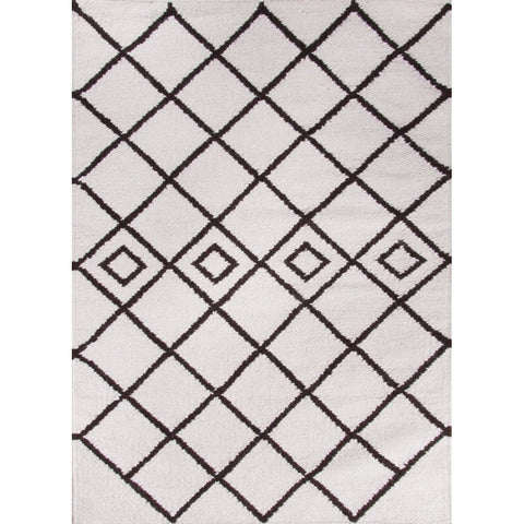 Moroccan Boho Berber Wool Rug Kilim | Black and White | 120x170cm - Lost Design Society