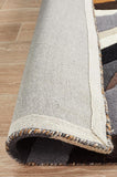 Crossroads Designer Wool Rug Brown White Grey