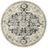Treasury Transitional Round Charcoal Rug