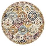 Treasury Ainsley Round Rust Transitional Rug