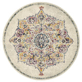 Treasury Kendall Bone Round Transitional Rug