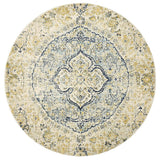 Treasury Tyler Sky Blue Round Transitional Rug
