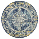 Treasury Wilson Navy Round Transitional Rug