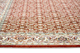 Traditional Nain Knotted Rug | Red