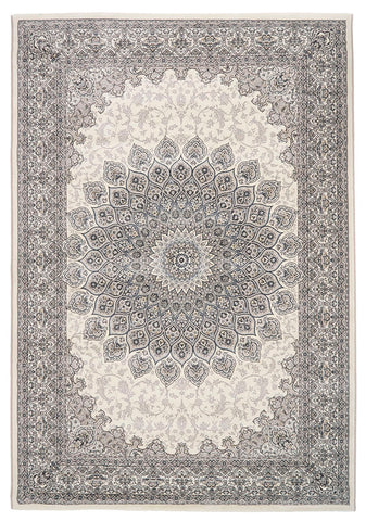 Traditional Nain Knotted Rug | Grey