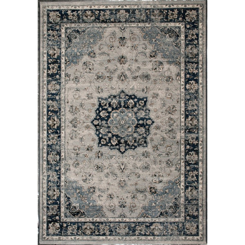 Persian Nain Knotted Rug | Navy Blue | 200x290cm - Lost Design Society