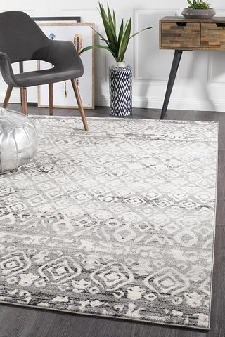 Paradise Dark Grey Tribal Rug