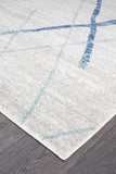 Paradise White Blue Contemporary Transitional Rug