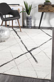 Paradise White Grey Contemporary Transitional Rug