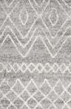 Paradise Grey Rustic Tribal Round Transitional Rug