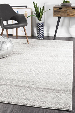 Paradise Grey Rustic Tribal Transitional Rug