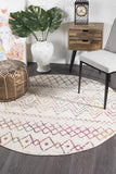Paradise Multi Rustic Tribal Round Transitional Rug