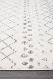 Paradise White Grey Tribal Transitional Rug