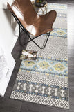 Paradise Blue Tribal Transitional Rug