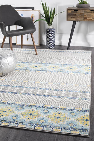 Paradise Blue Tribal Rug
