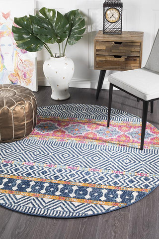 Paradise Multi Tribal Round Transitional Rug