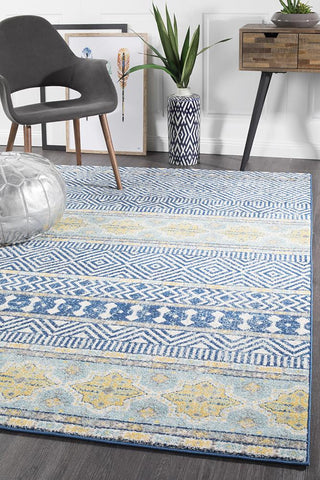 Paradise Navy Tribal Rug