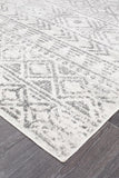 Paradise White Grey Rustic Transitional Rug
