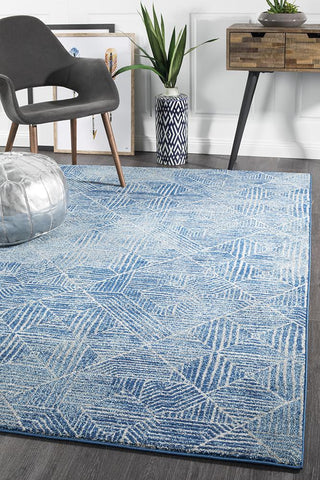Paradise Contemporary Navy Rug