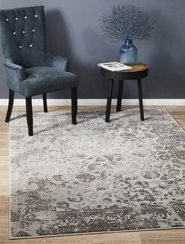 Luxuriance Lucy Silver Transitional Rug