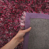 Atlanta Metallic Lustre Shag Fusion Berry Rug - Lost Design Society