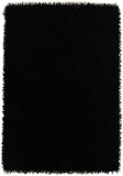 Atlanta Metallic Lustre Shag Black Rug - Lost Design Society