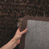 Atlanta Metallic Lustre Shag Brown Beige Rug - Lost Design Society