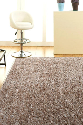 Atlanta Metallic Lustre Shag Cream Rug