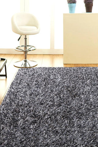 Atlanta Metallic Lustre Shag Granite Rug