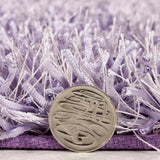 Atlanta Metallic Lustre Shag Lilac Rug - Lost Design Society