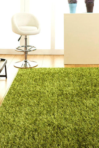 Atlanta Metallic Lustre Shag Lime Rug