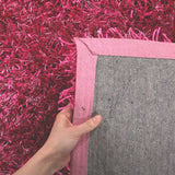 Atlanta Metallic Lustre Shag Fuchsia Rug - Lost Design Society