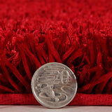 Atlanta Metallic Lustre Shag Red Rug - Lost Design Society