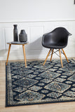 Mayfair Timeline Navy Transitional Rug